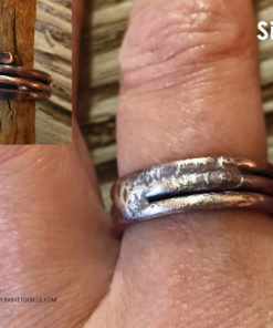 Rustic Viking inspired copper ring