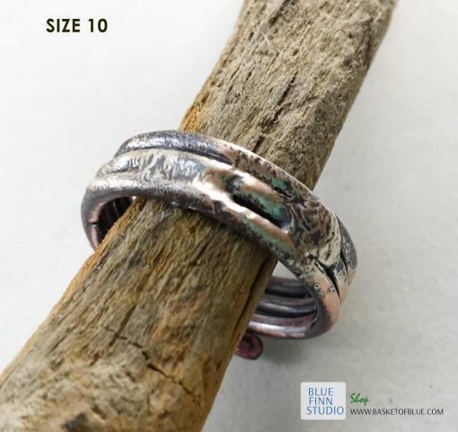 rustic mixed metal ring