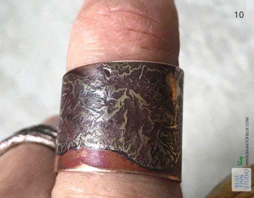 wrap ring copper silver