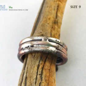 rustic mixed metal men's ring