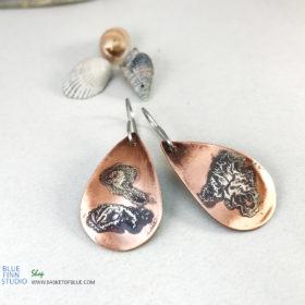 mixed metal rustic patina earrings