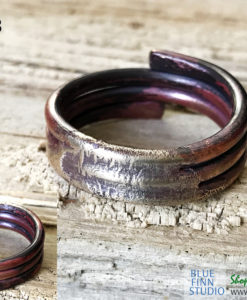 Men's Viking Style MIxed Metal Ring