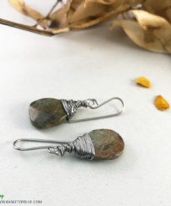 ruby in fuchsite boho earrings