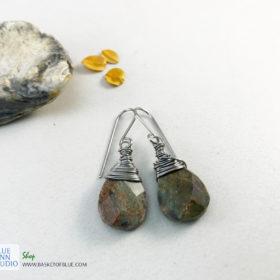 ruby in fuchsite boho earrings