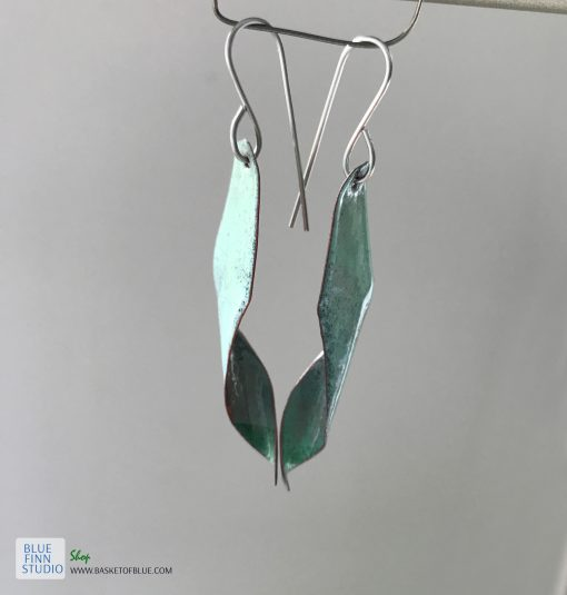 Enamel Seed pod Earrings - Tree of LIfe