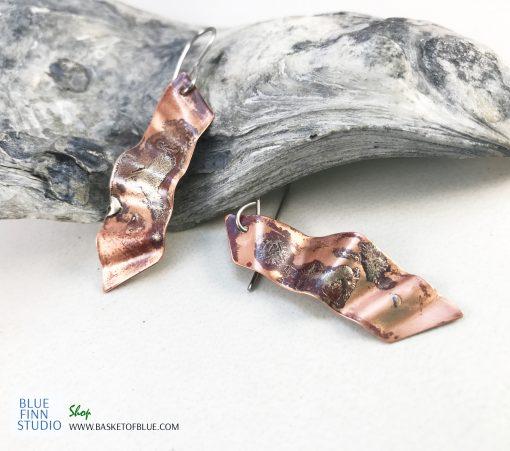 Northern lights mixed metal earrings