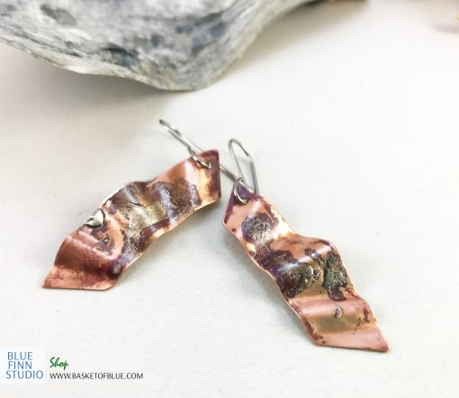 Northern lights mixed metal earrings