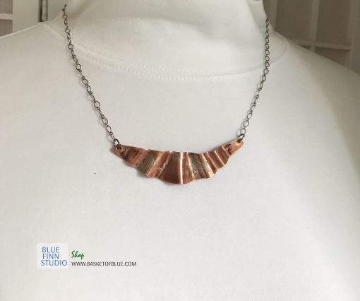 northern lights mixed metal necklace