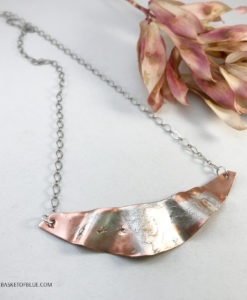 Mixed metal NOrthern lights necklace