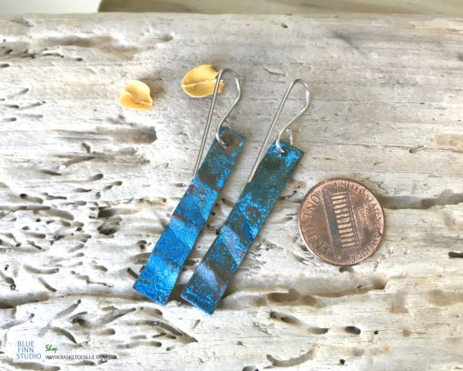 blue copper patina earrings