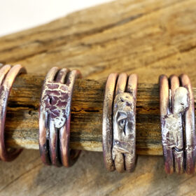 copper and silver fused ring mixed metal