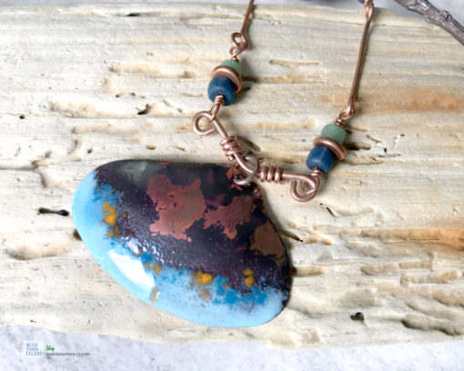 enamel shell necklace