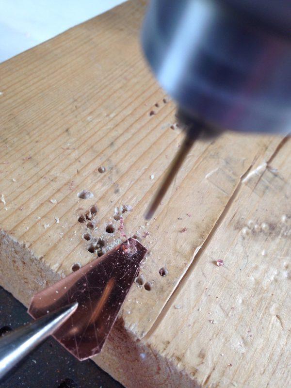 making handmade copper jewelry