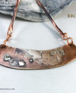 Bronze Bar Necklace Fused Sterling silver