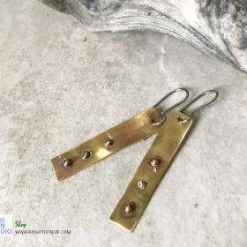 rustic brass earrings