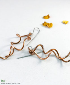 copper wire twist earrings