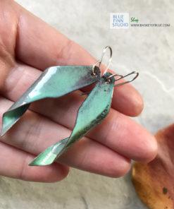 enamel seedpod earrings