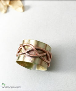 mixed metal primitive brass ring