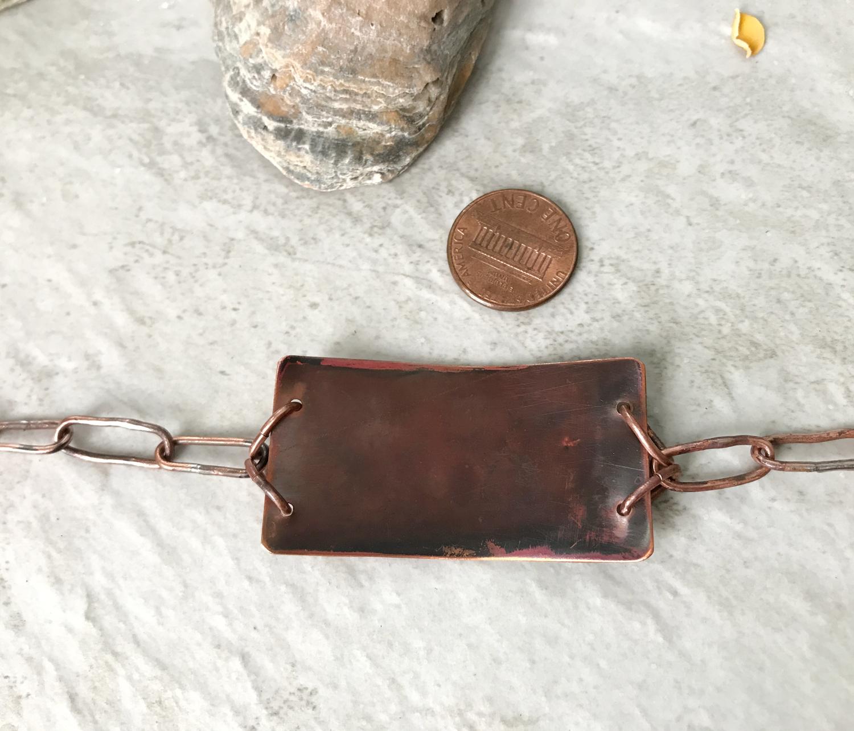 mixed metal bar bracelet