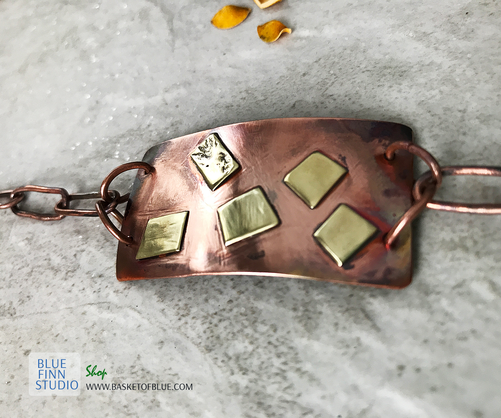mixed metal bar bracelet