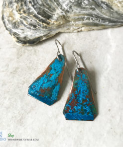 blue patina earrings