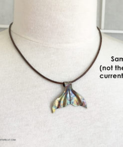 bronze whale tail necklace