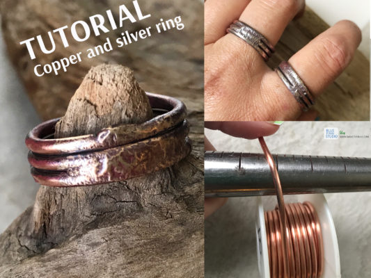 copper and silver ring tutorial