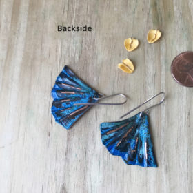 BLUE PATINA MERMAID TAIL EARRINGS
