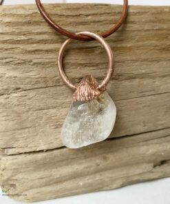 Citrine electroformed copper pendant