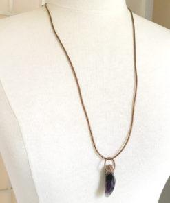 Amethyst electroformed pendant