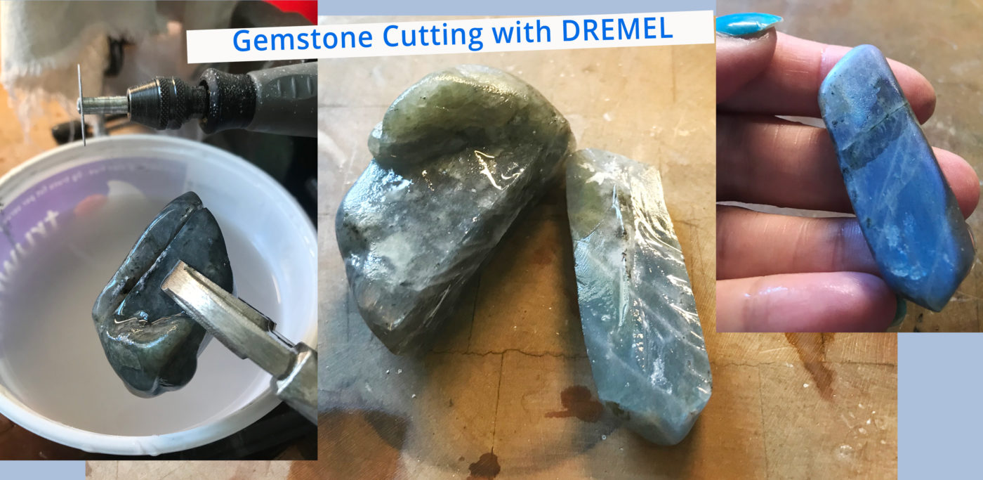 Cutting gemstones with Dremel using Diamond blade