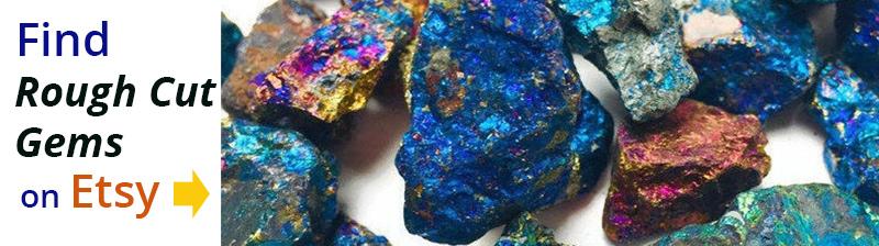 find rough cut gems