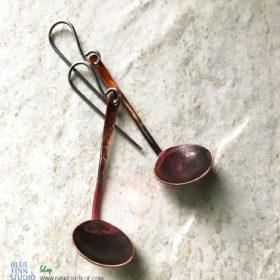 copper ladle finnish kuuppa sauna earrings