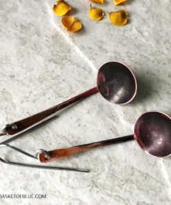 copper ladle finnish kuuppa sauna earrings spoon