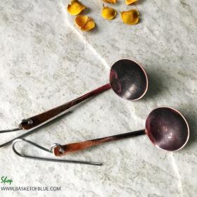 copper ladle finnish kuuppa sauna earrings spoon
