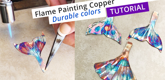 flame painting durable colors on coppe