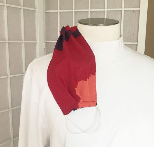 Marimekko Red Poppy Fabric Face Mask