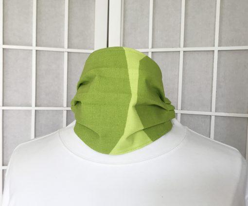 Marimekko fabric face mask Kivet lime green
