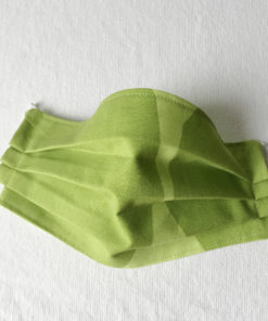 Marimekko fabric face mask Kivet lime green
