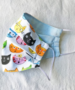 Cat fabric face mask - colorful funny cats