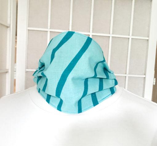 Marimekko fabric face mask Silkkikuikka blue wave