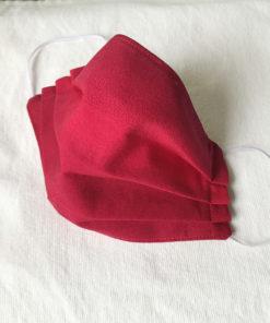 Marimekko fabric face mask red poukama