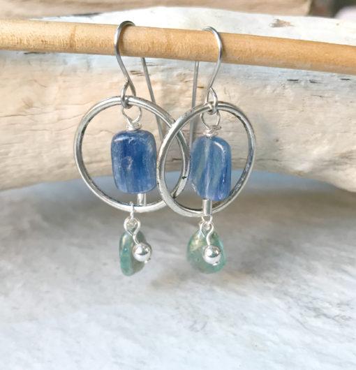 kyanite hoop earrings