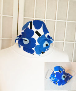 Marimekko poppy face mask handmade fabric mask