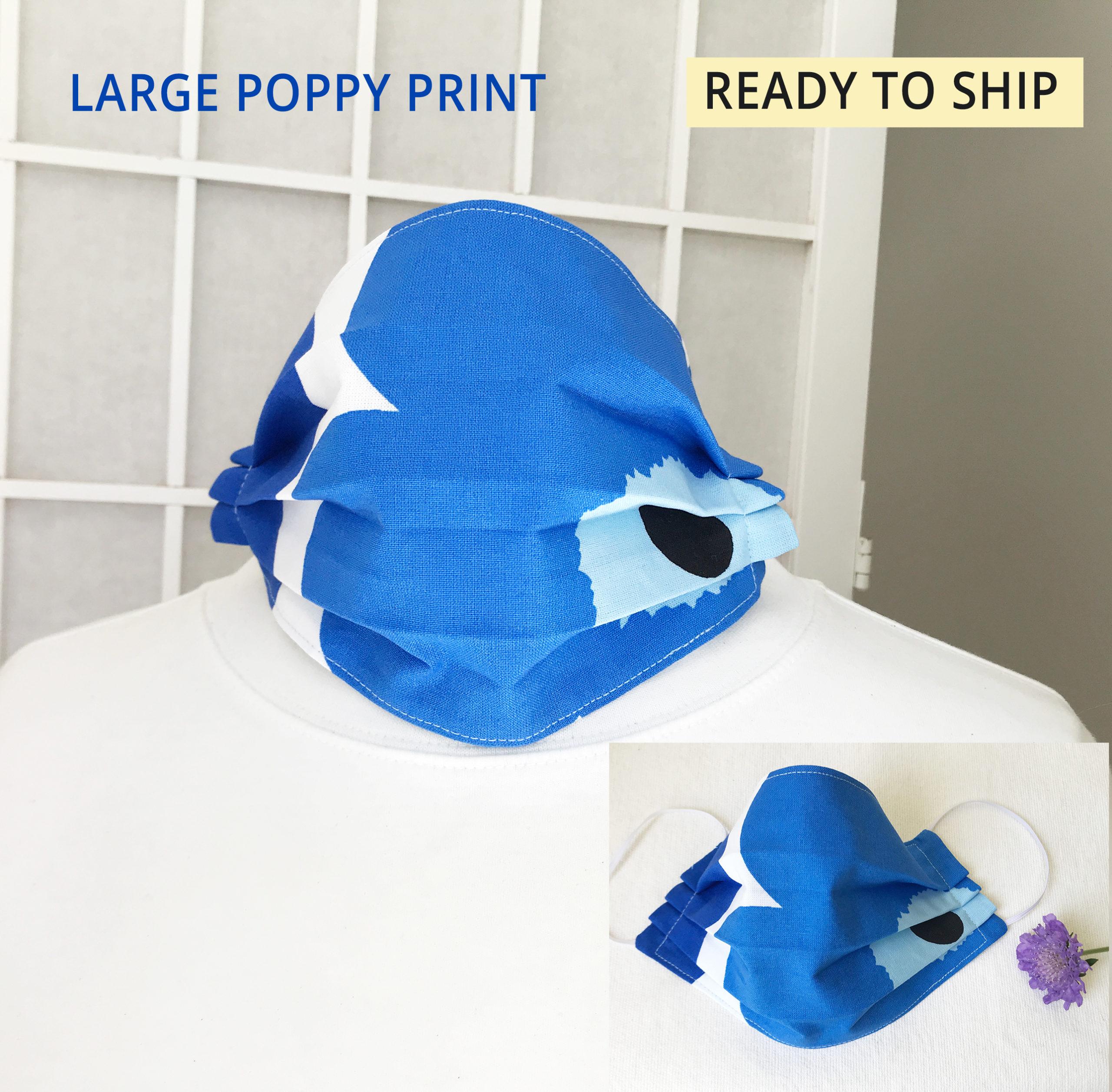 Marimekko poppy face mask