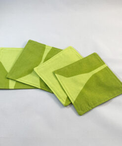 marimekko fabric coasters kivet lime green cotton