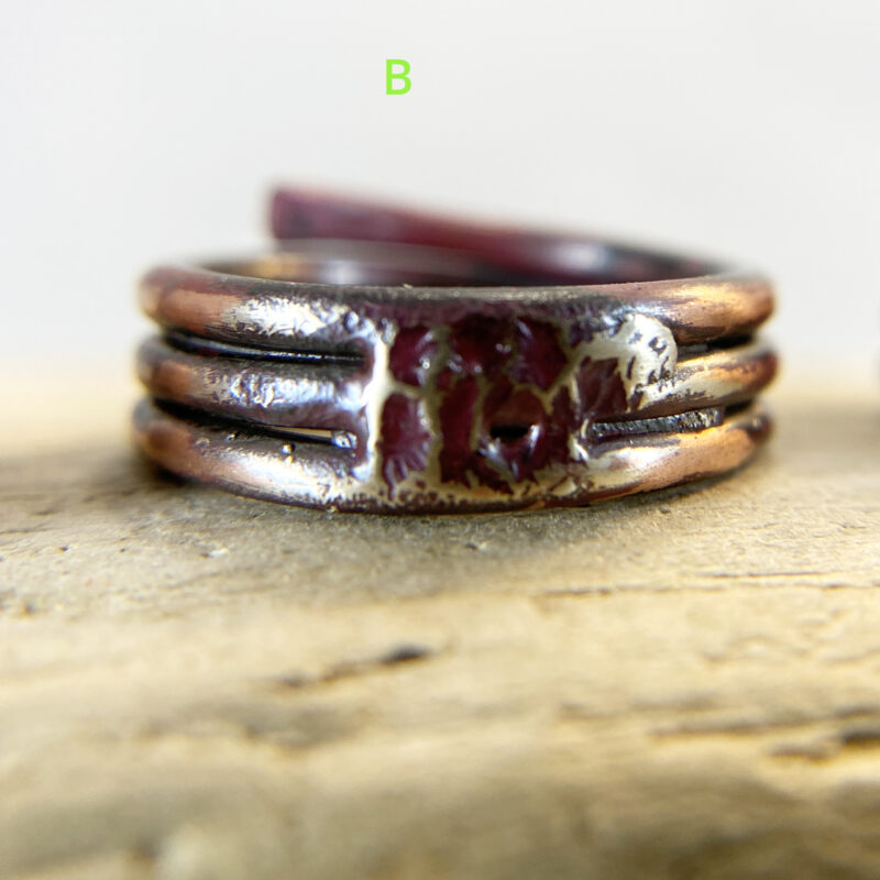 copper silver fused ring