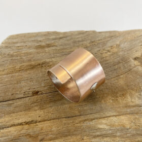 bronze sterling sllver fused wrap ring