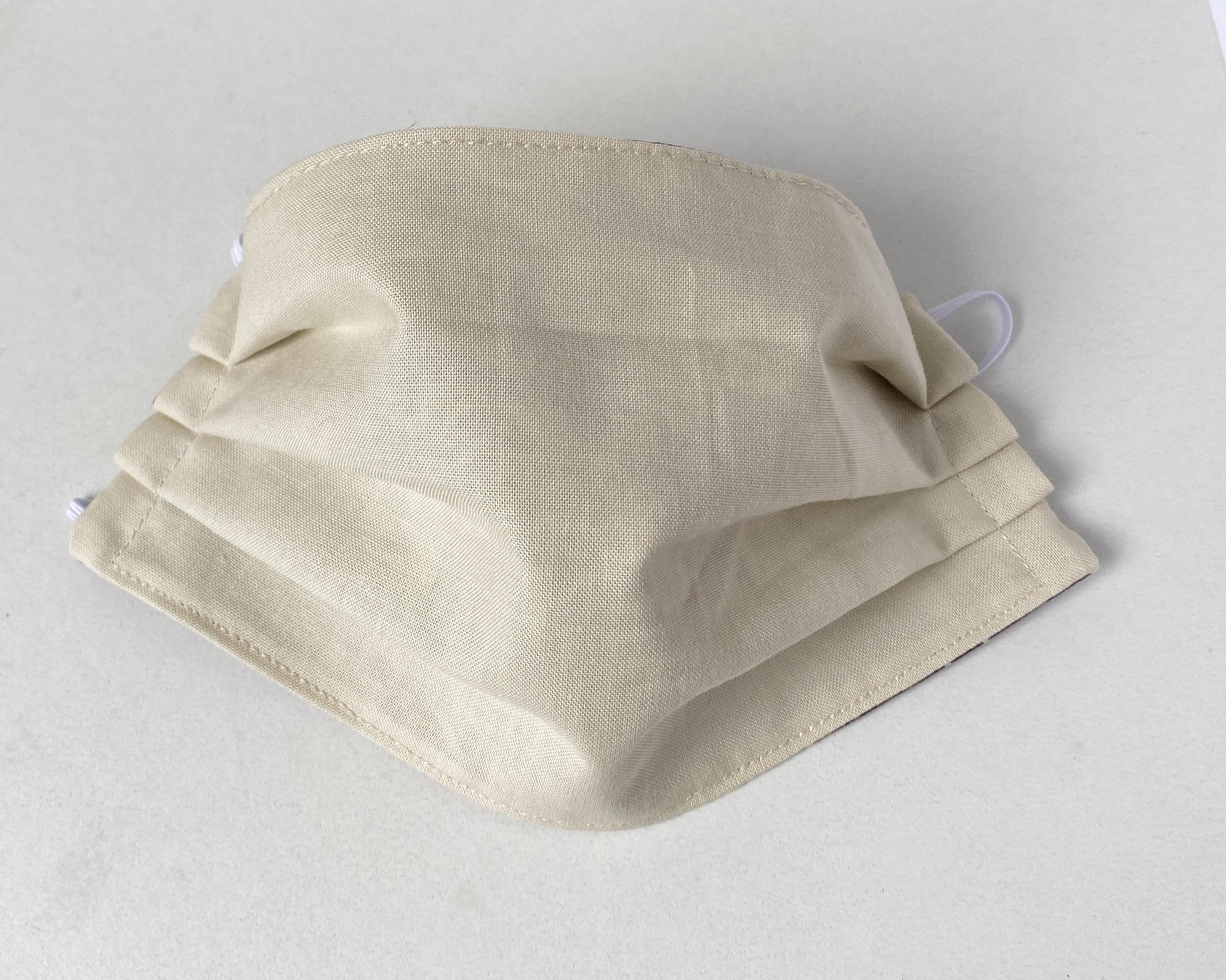 marimekko fabric face mask brown leaf Guada