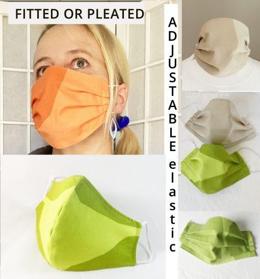 marimekko kivet fabric face mask